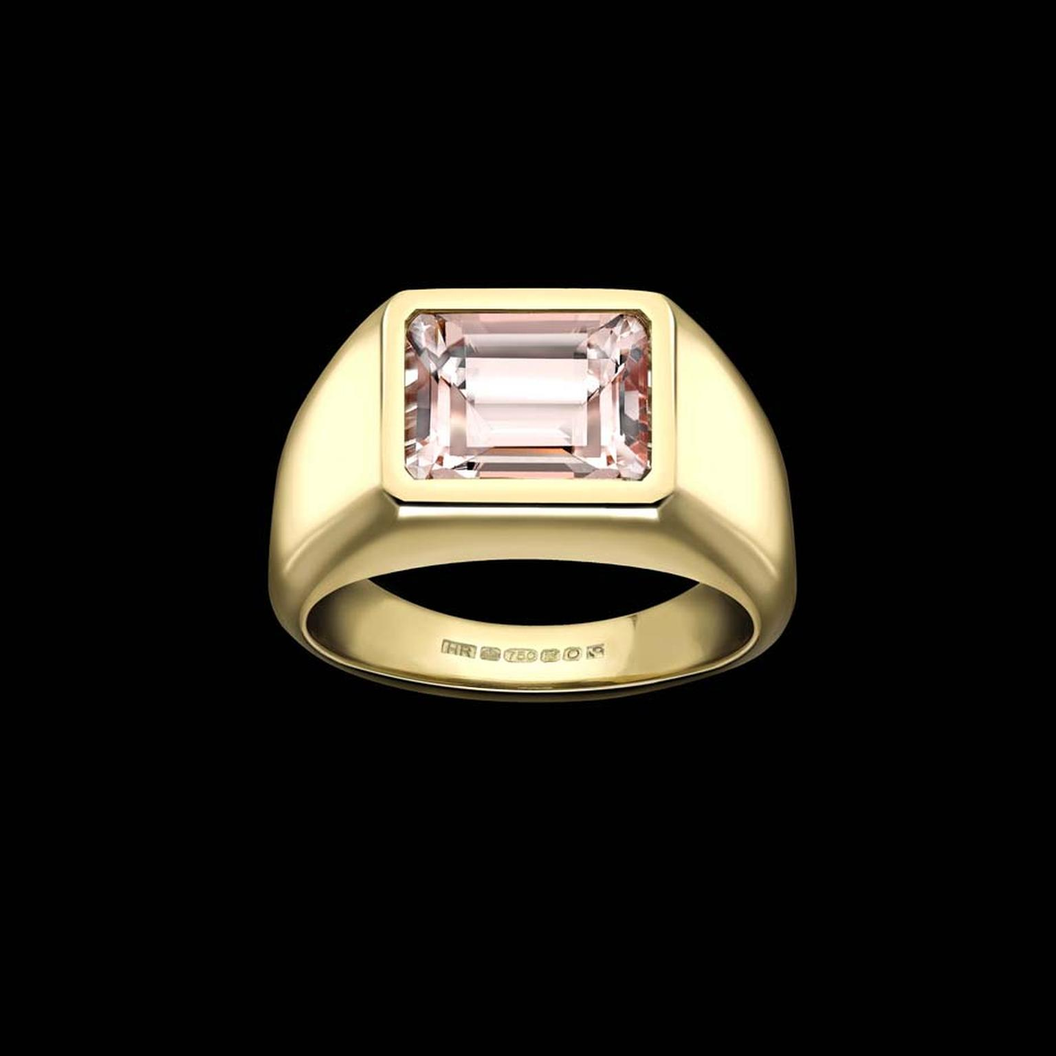 This bespoke morganite engagement ring by Hattie Rickards was created with a contribution of gold from two families.