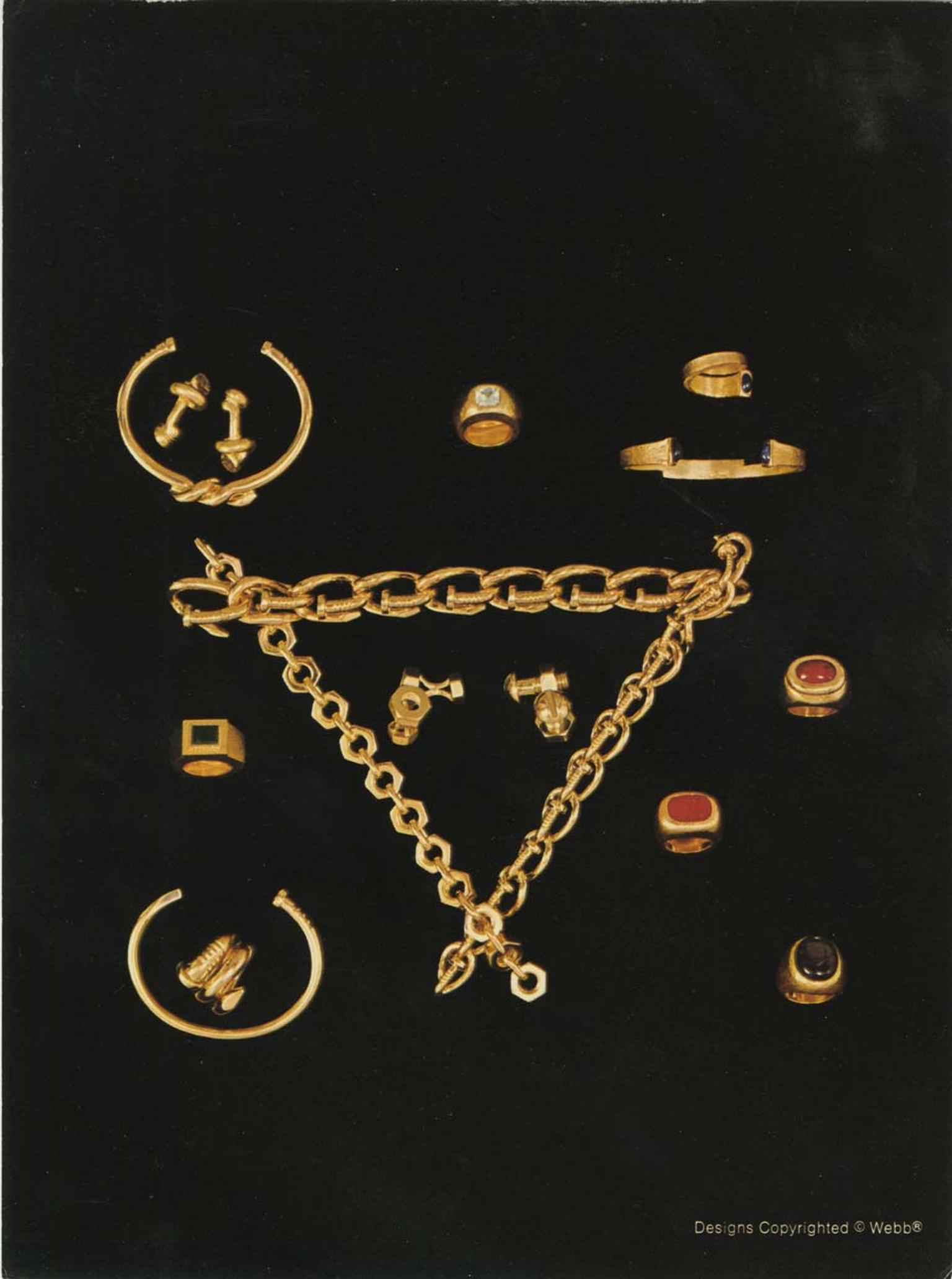 David Webb Look Book Christmas 1971 featuring the original David Webb Tool Chest jewels, reproduced courtesy of the David Webb Archives.