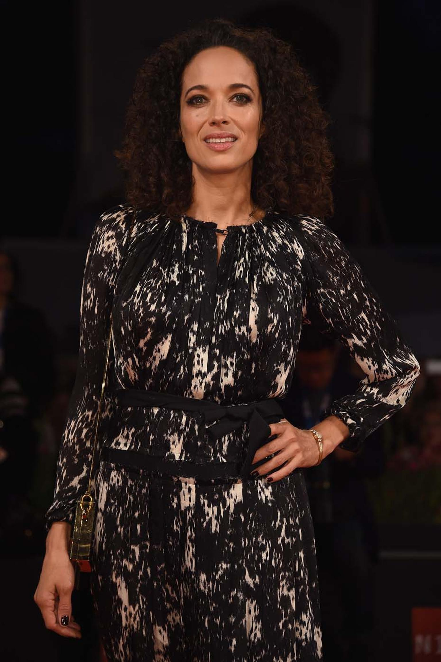 Carmen Chaplin was also spotted wearing a vintage Jaeger-LeCoultre watch at the Venice Film Festival 2014.