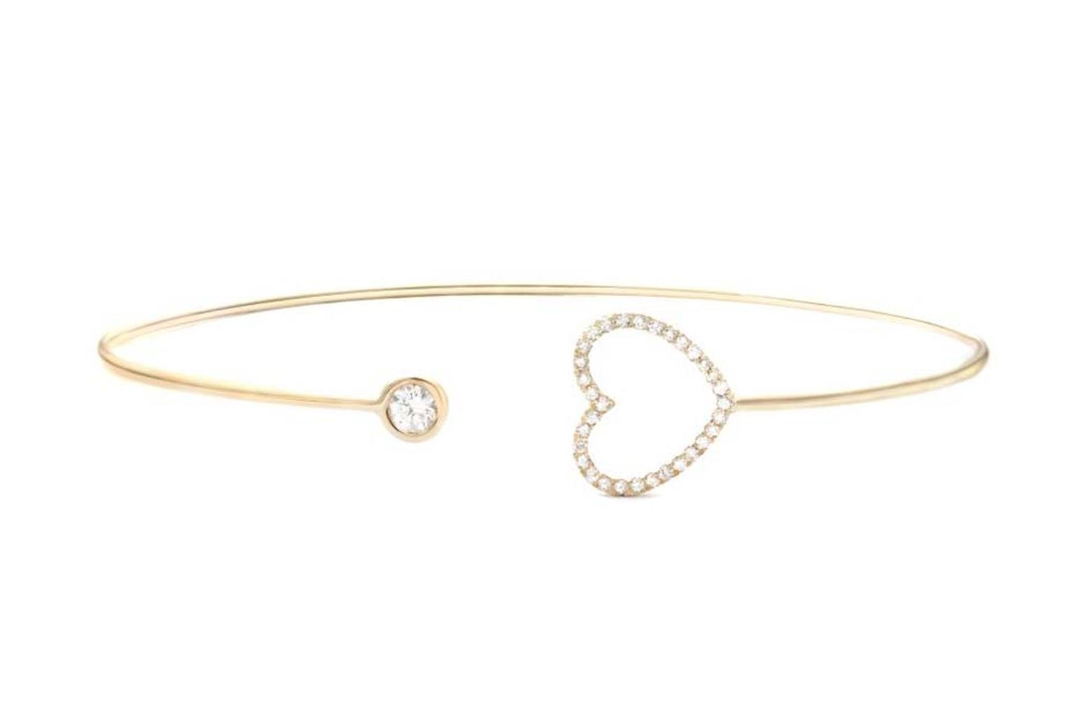 Vahina Tahi yellow gold and diamond Love Heart bracelet.