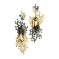Beth Gilmour one-of-a-kind Diachroma earrings in yellow gold with bi-coloured citrines.