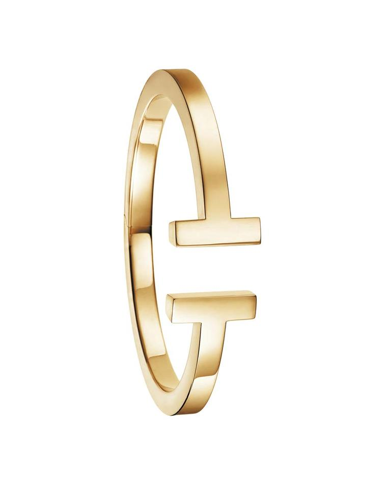 Tiffany and Co. Tiffany T medium square bracelet in yellow gold.