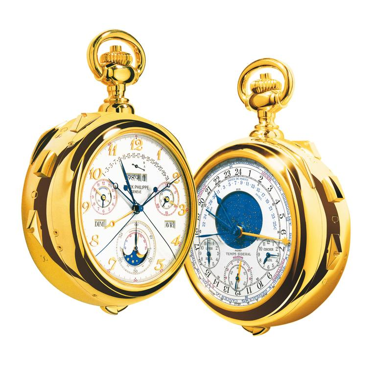 Patek Philippe Calibre 89 pocket watch with two faces