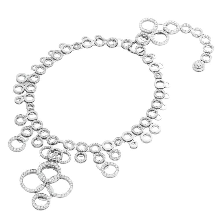 AS by Atsuko Sano Arabian Night collection white gold necklace with diamonds.