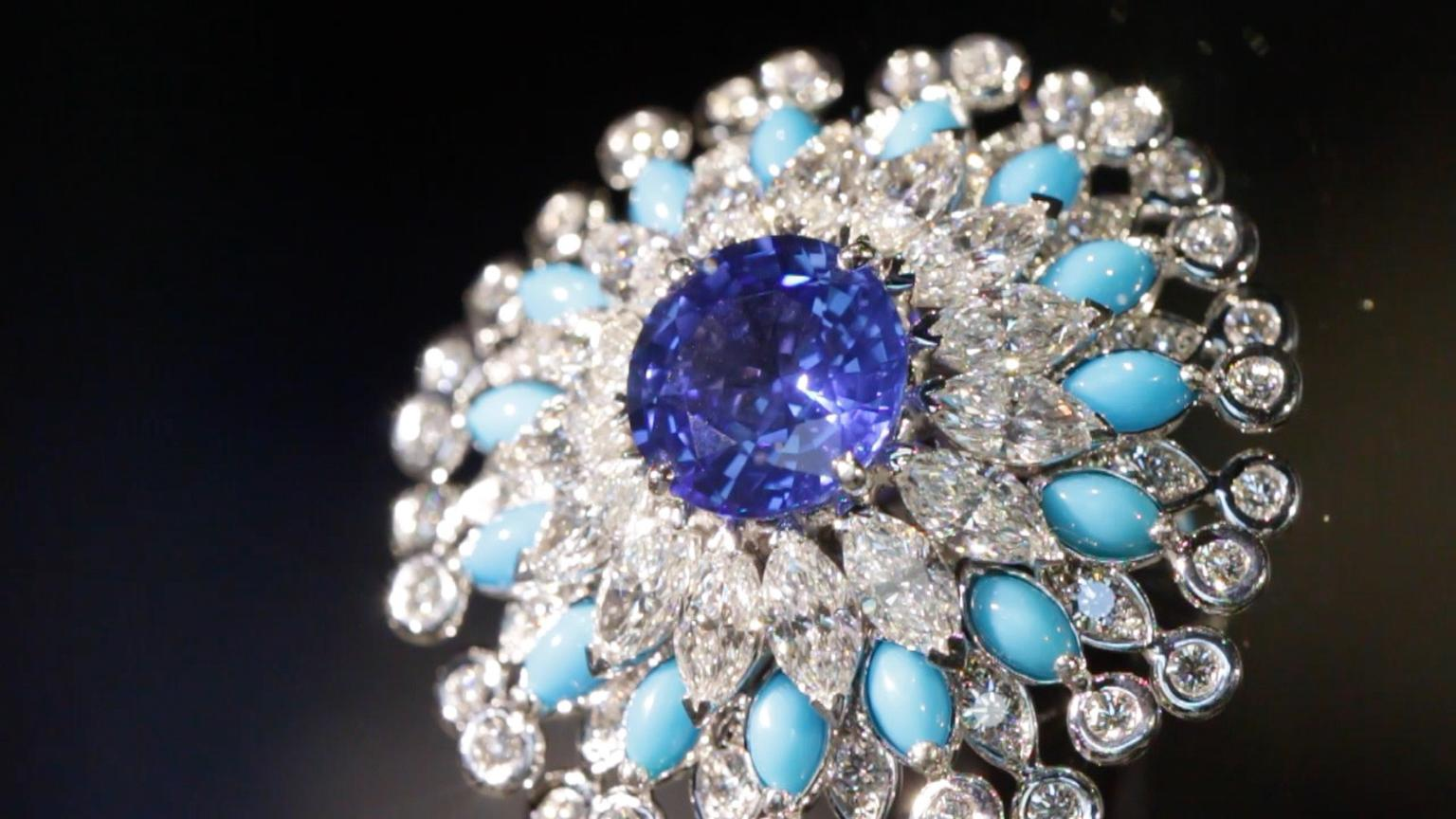 Piaget's sapphire, multi-shaped diamonds and turquoise bead ring- as seen during my recent trip to the 2014 Biennale des Antiquaires- was big and bold yet perfectly elegant.