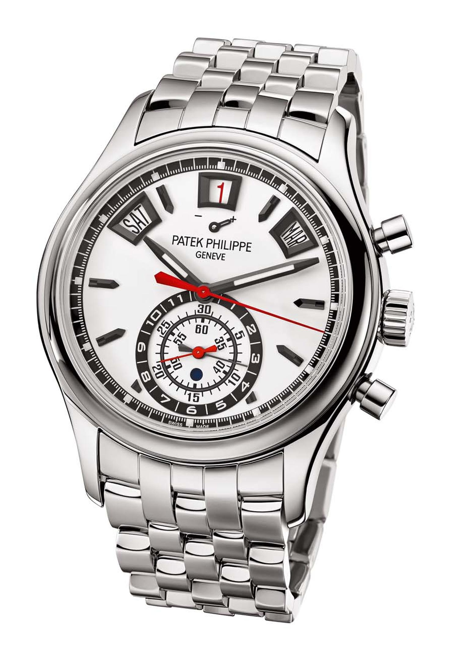 Patek Philippe's new Ref. 5960/1A Annual Calendar Chronograph watch in stainless steel.