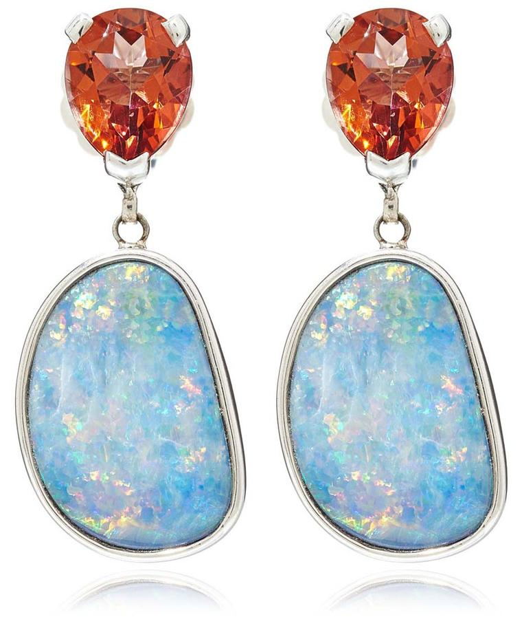Stephen Dweck silver, topaz and opal drop earrings (£1,380).