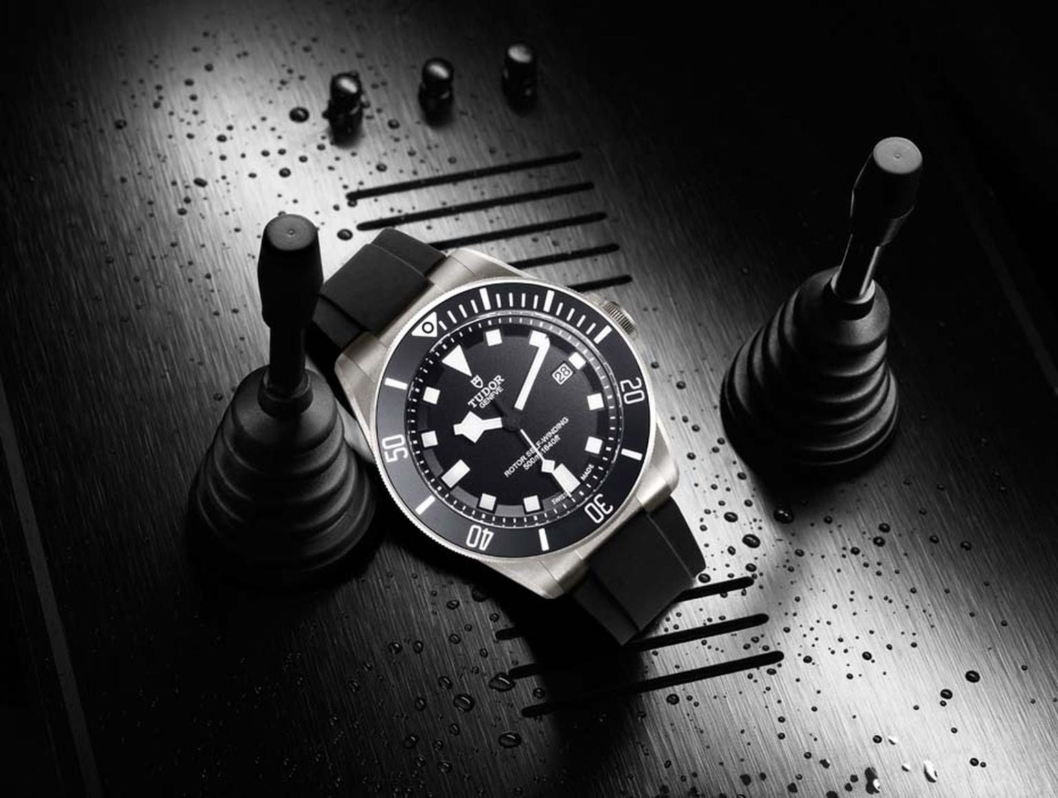 The Tudor Pelagos diver's watch is waterproof to an impressive 500m and features a 42mm satin-finished case made of titanium.