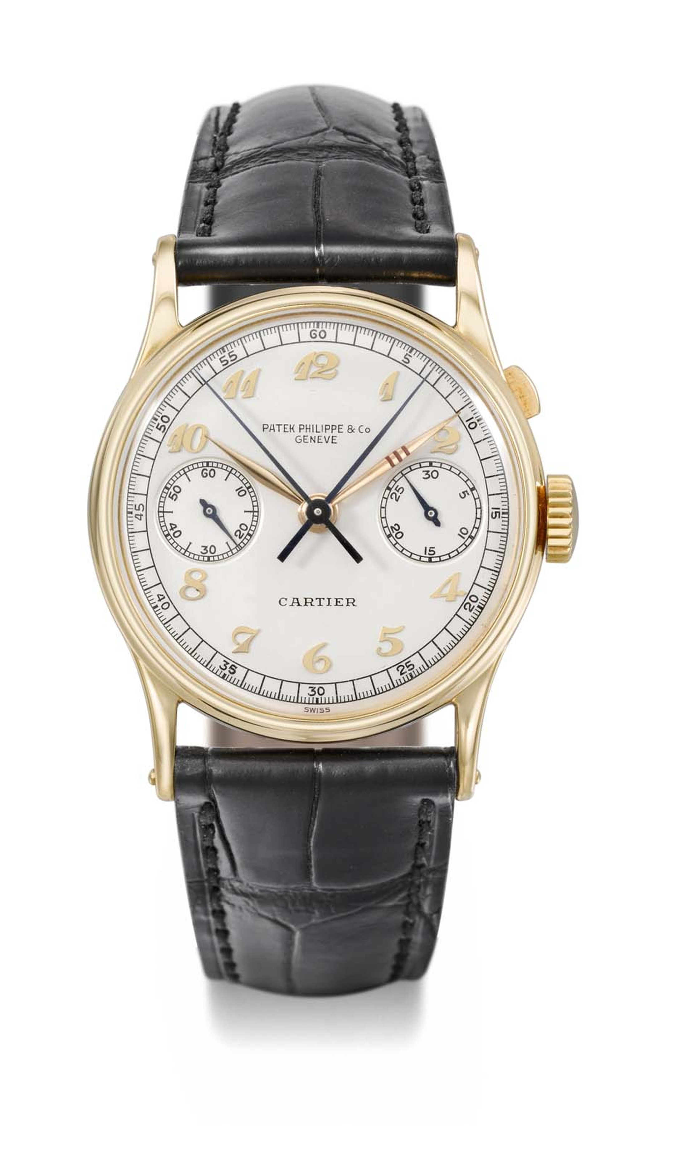 "Christie's auction will include the Patek Philippe watch ""The Boeing"" Reference 130, a rare gold wristwatch with a split-seconds chronograph."