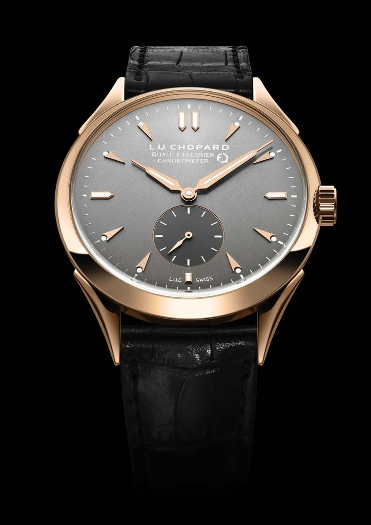 The Chopard L.U.C Qualité Fleurier watch's certifications include COSC certification as a chronometer, Fleurier Quality Foundation certification, which vouches for the global quality of the watch and its aesthetic finish, and the Fleuritest, which simulat