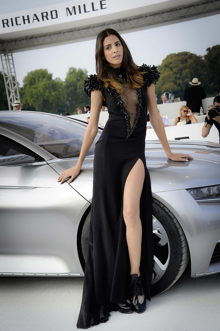 "The ""Concours d'Elegance"" was open to concept cars, each matched up with a leggy model wearing a couture creation to complement the car design."