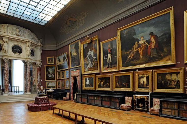 The castle was open to visitors throughout the Chantilly Arts & Elegance weekend, including the ancient paintings on display at the Condé Museum, which rival those at the Louvre.
