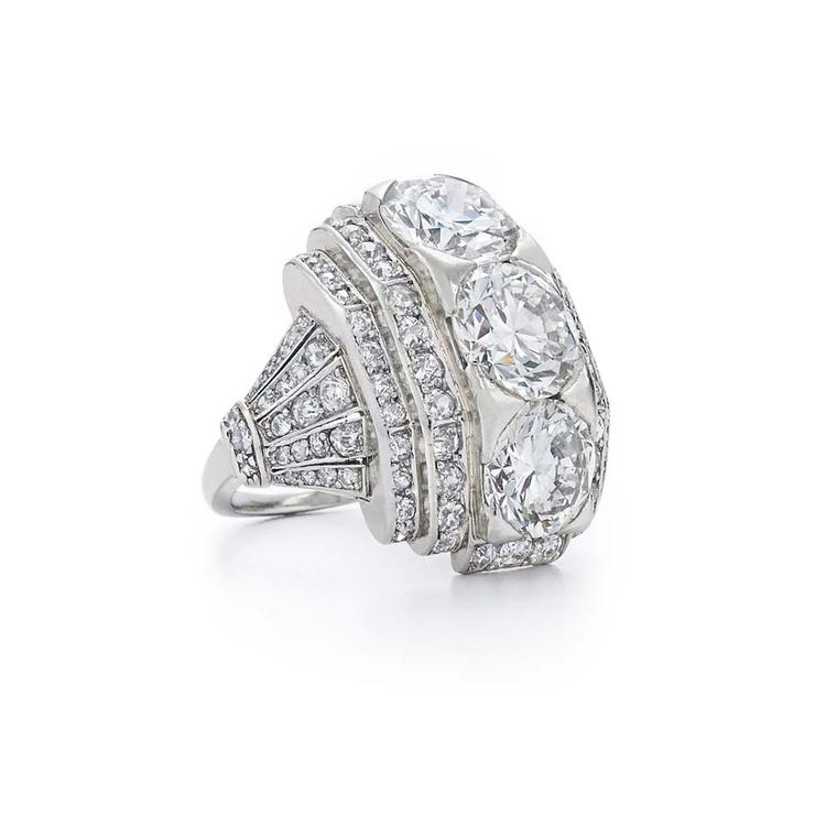 Art Deco Boivin Bande Bombe diamond ring, available from Fred Leighton at 1stdibs.com ($200,000).
