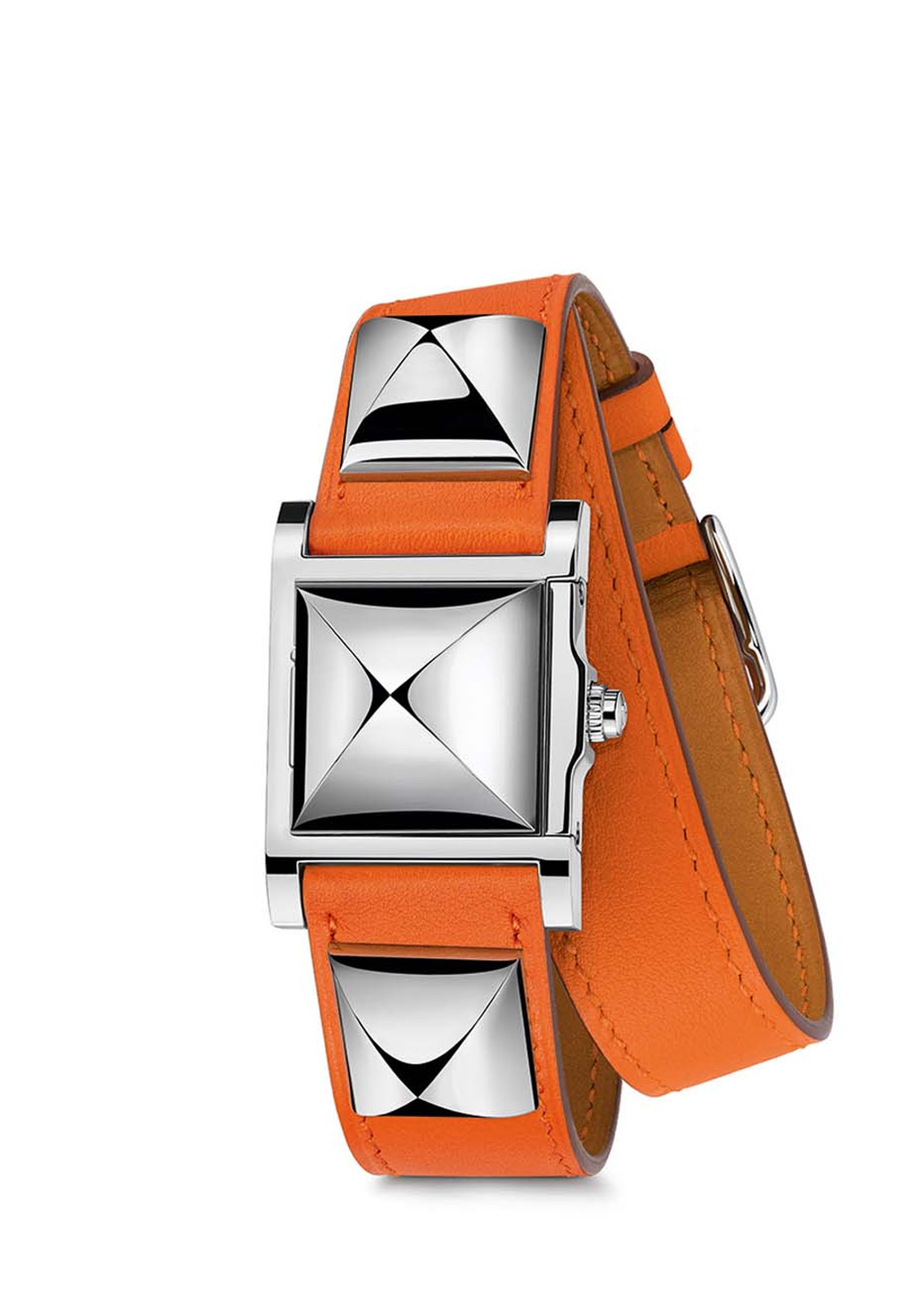 The Hermès Médor secret watch was inspired by a studded leather dog collar.
