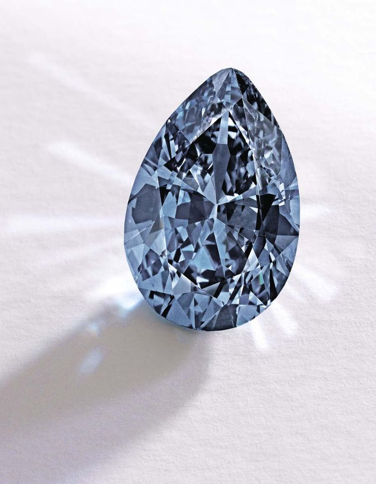 The rare 9.74ct Fancy Vivid Blue diamond is potentially internally flawless (IF) and VVS2 clarity (estimate: $10-15 million).