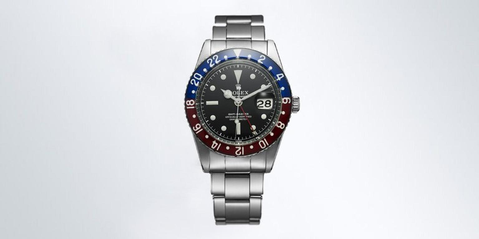 The Rolex GMT Master watch worn by Peter Sellers during his brief career as 007 in the 1967 film Casino Royale and by Goldfinger's private pilot, Pussy Galore.