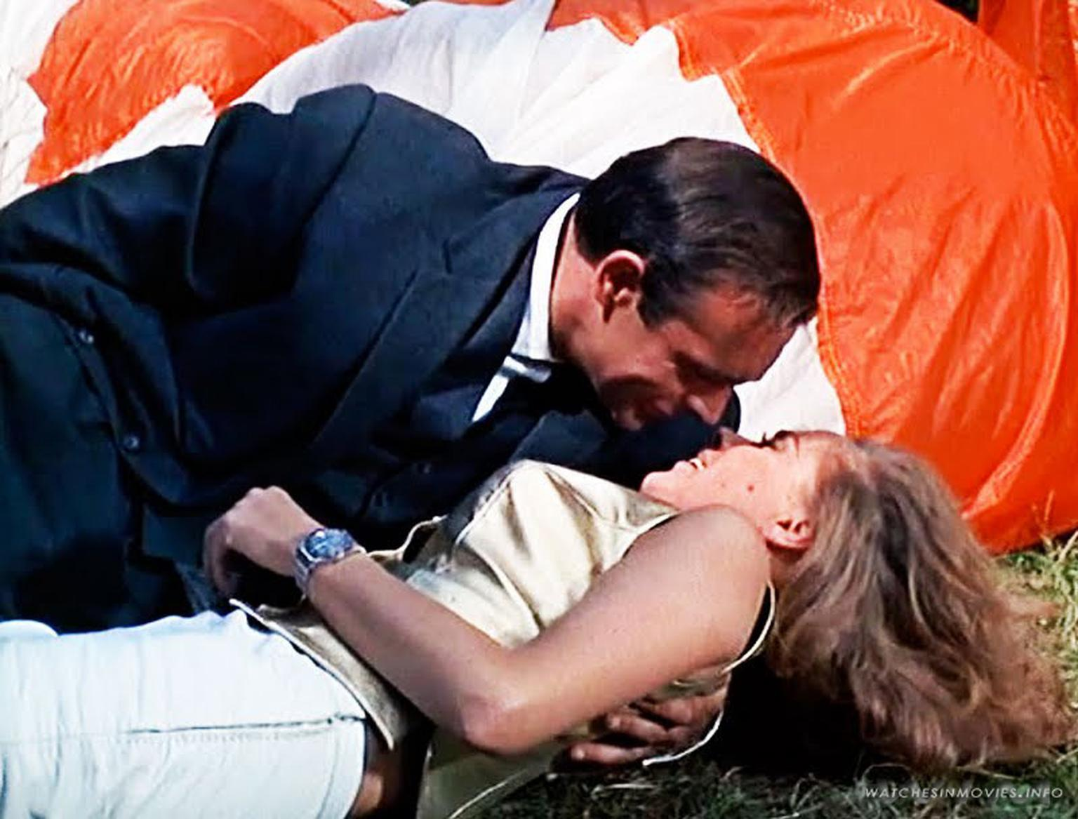 In Goldfinger, a couple of other Rolex watch models also made cameo appearances, including on the wrist of character Pussy Galore playing Goldfinger's sexy pilot who wears a men's Rolex GMT-Master model.