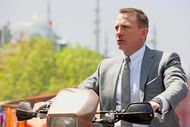 A cool and collected Daniel Craig in Skyfall sporting an Omega Seamaster watch.