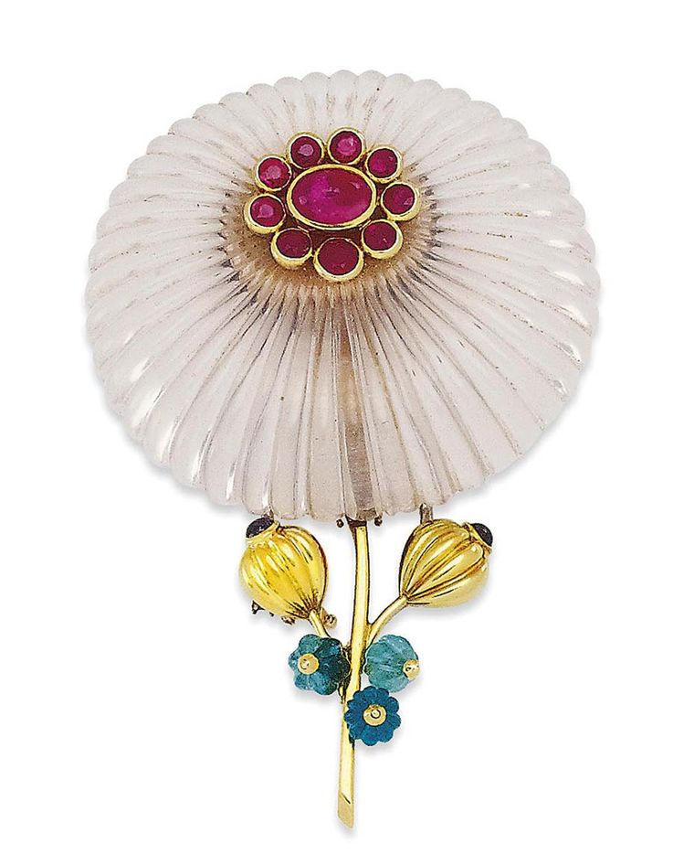 Suzanne Belperron Daisy brooch from the 1950s © Christie's Images Limited.