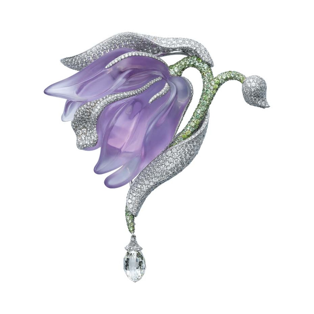 Cartier's Orchid brooch, created in 2010. Image by: V. Wulveryck © Cartier.