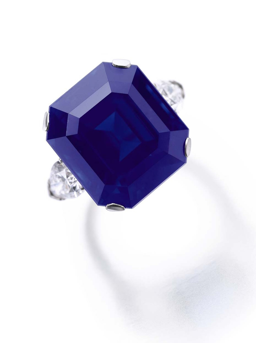 The 27.54ct sapphire from Kashmir in this ring belonging to Greek financier Dimitri Mavrommatis combines a deep velvety blue colour with a very high purity. It will go on sale at Sotheby's Geneva this November (estimate: US$3-6 million).