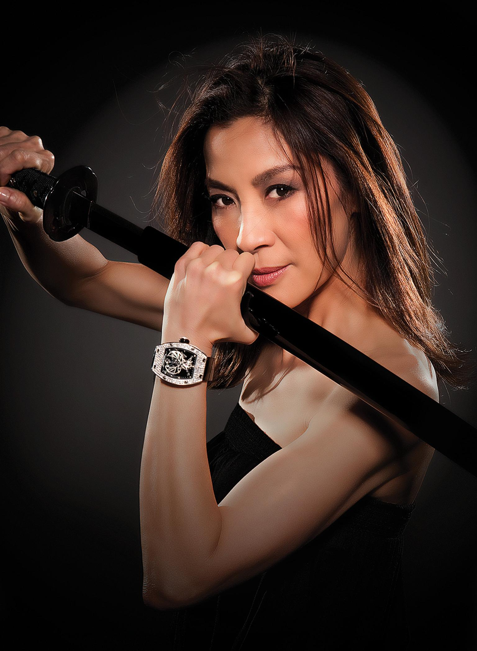 Richard Mille collaborated with internationally acclaimed martial arts actress Michelle Yeoh to create the RM 051 Phoenix Michelle Yeoh watch.