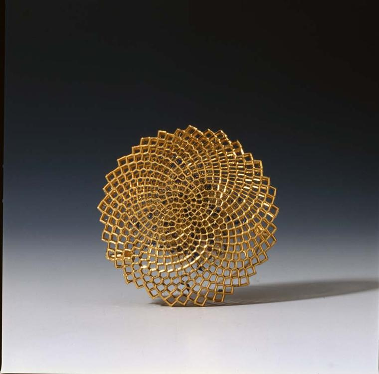 Giovanni Corvaja gold Circular brooch. Image courtesy of Adrian Sassoon, London.