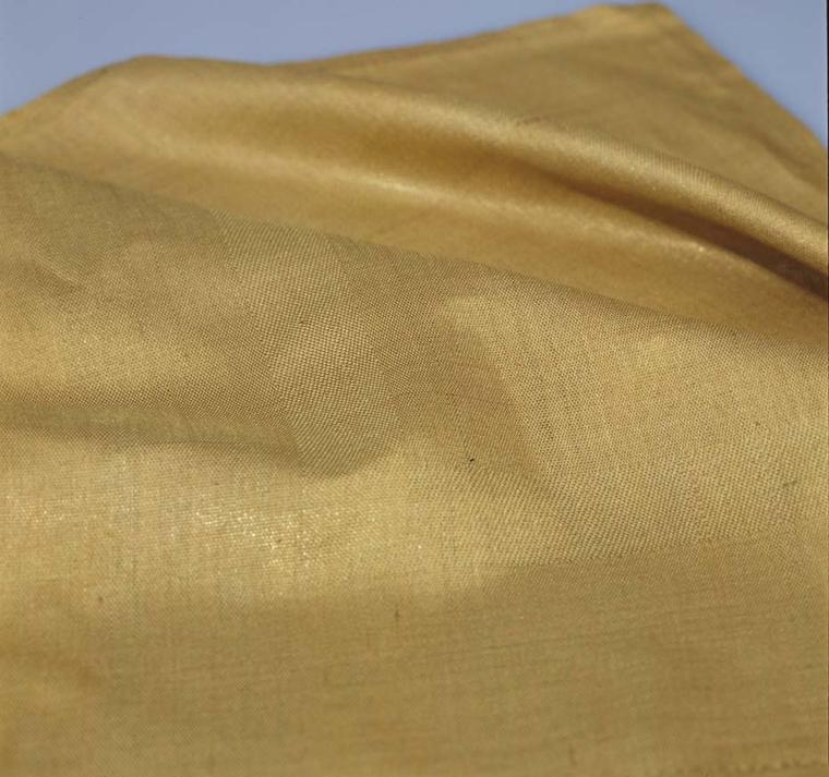 Giovanni Corvaja flexible handkerchief woven entirely of gold - something never accomplished before. Image courtesy of Adrian Sassoon, London.