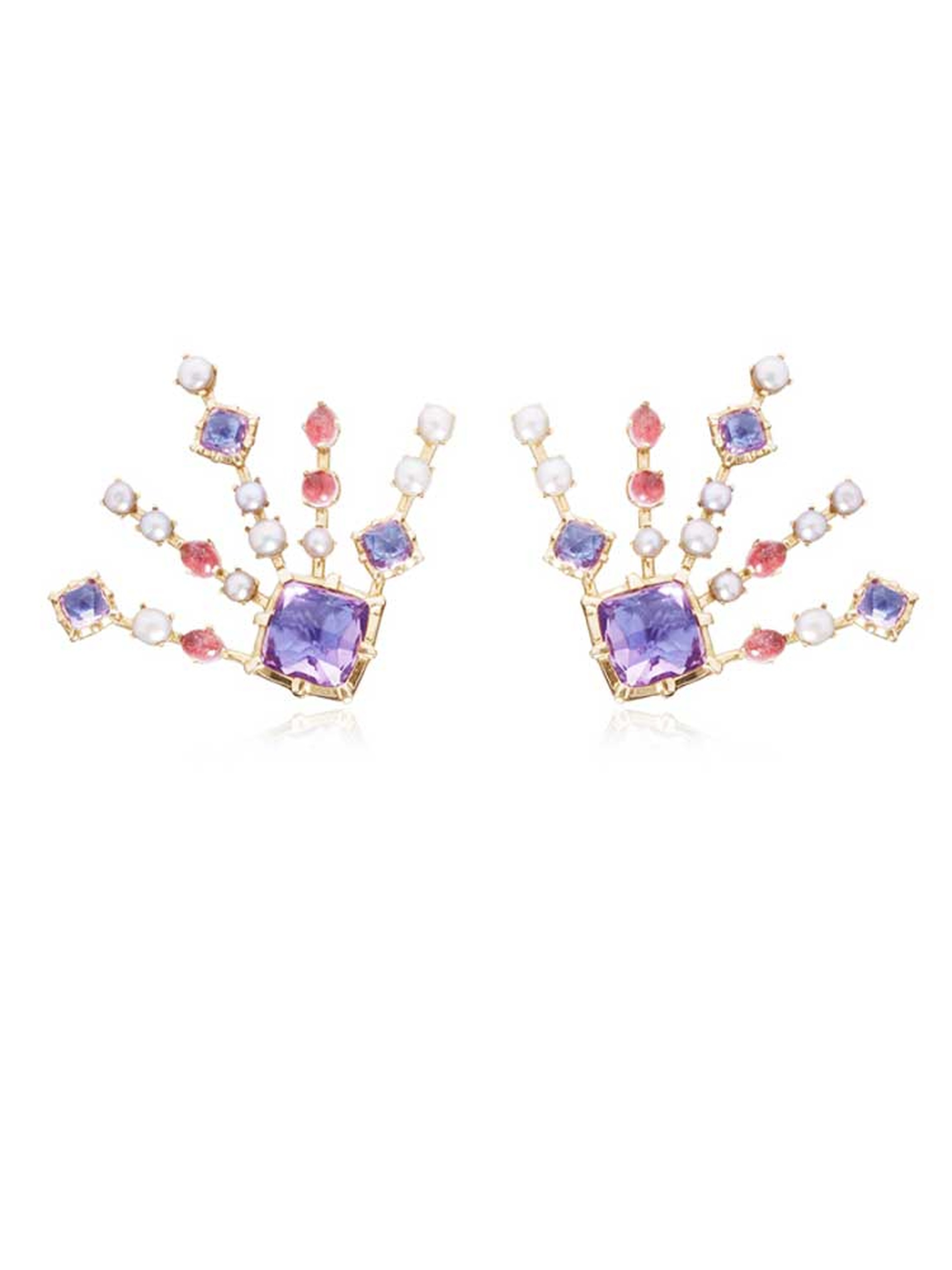 Larkspur & Hawk Large Bella earrings, available from Moda Operandi.