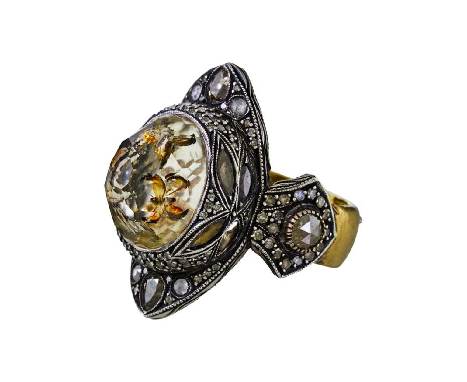 Sevan Bicakci Theodora Butterfly ring, available from online fine jewelry store Twist.
