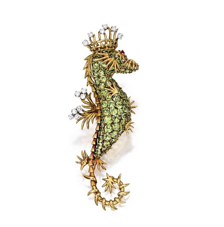 Seahorse brooch by Jean Schlumberger for Tiffany & Co, courtesy of Sotheby's.