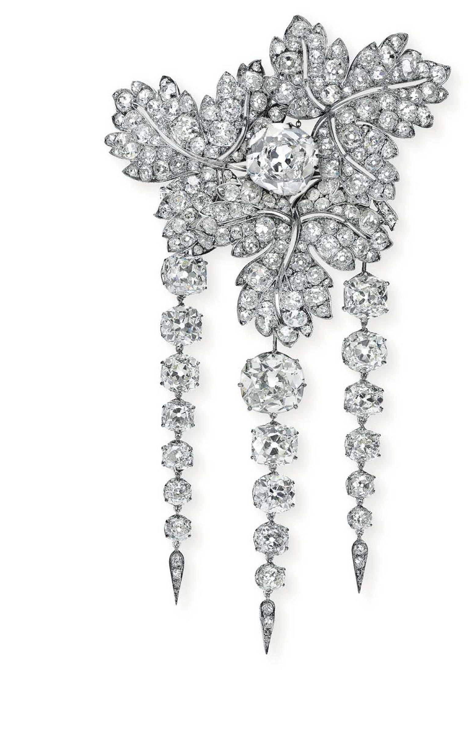 A brooch of royal provenance that once belonged to Empress Eugenie of France will be auctioned at Christie's Geneva on 11 November 2014 as part of its Magnificent Jewels sale (estimate: $2-3 million).