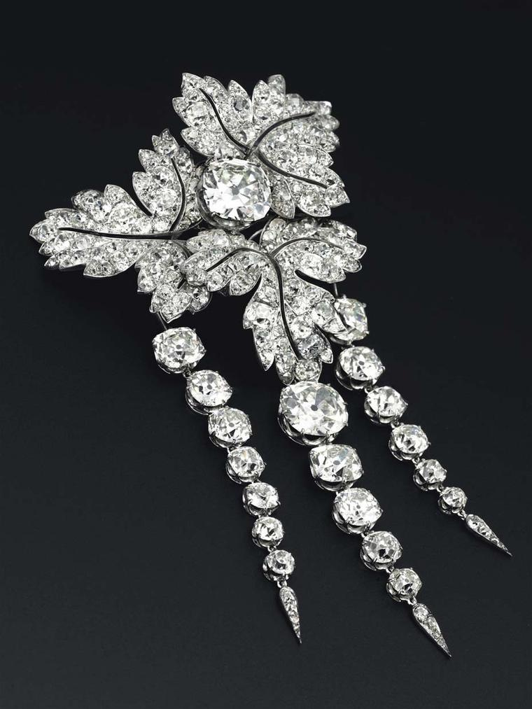 Princess Eugenie of France's Feuilles de Groseillier diamond brooch, which hasn't been seen at auction for more than 125 years, sold at Christie's sale of Magnificent Jewels this autumn for $2.33 million.