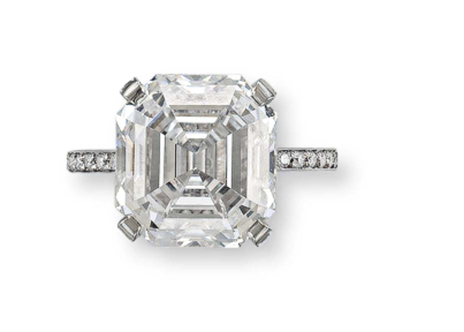 value single ring cut estimated stone flawless stock asscher internally diamond photo