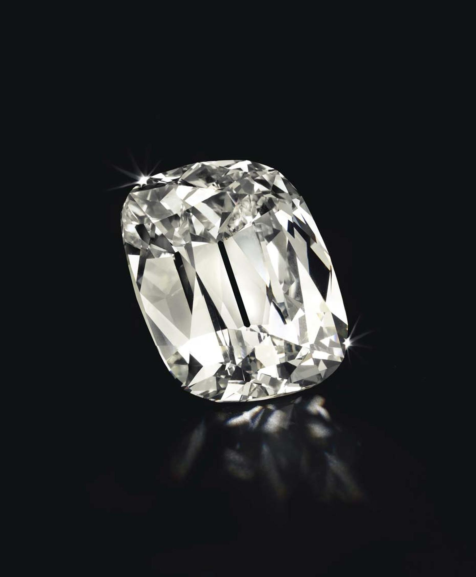 Christie's New York cushion-cut L colour VS2 diamond weighing 101.36ct sold for $4,981,000.