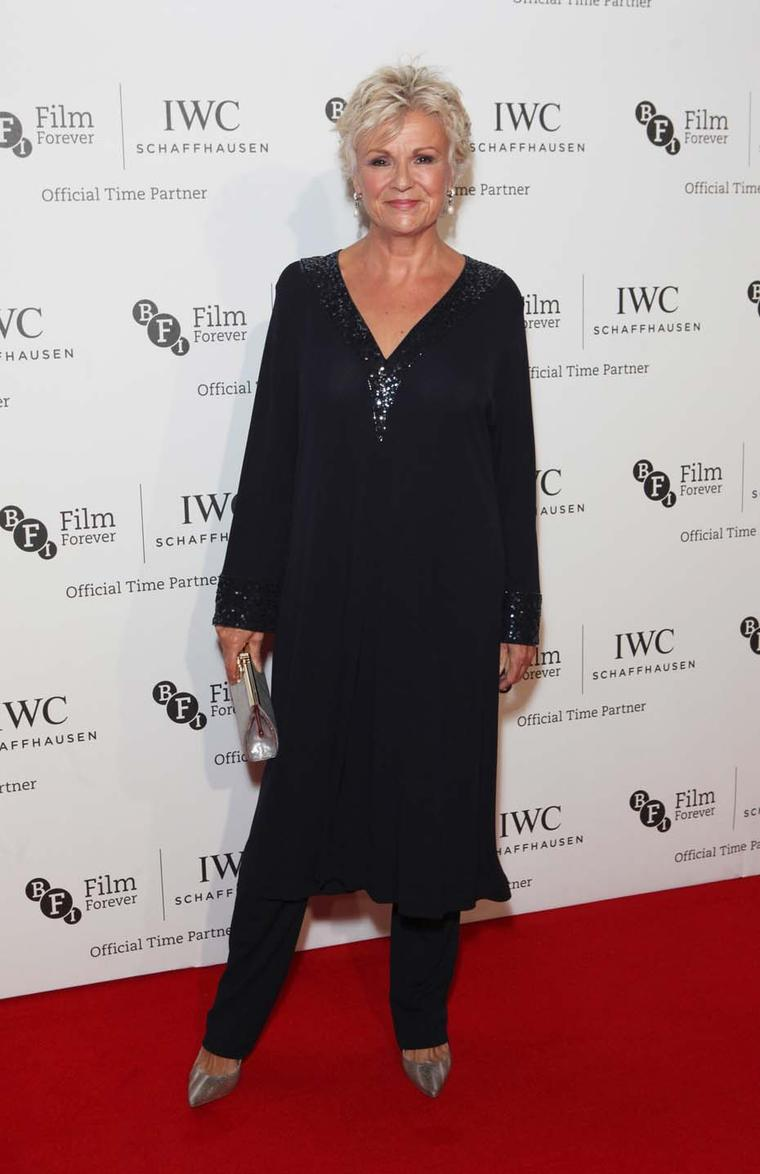 "During the BFI London Film Festival IWC Gala Dinner Julie Walters was presented with an IWC Portofino watch. ""It's absolute heaven,"" she said, remarking how delighted she was to be given a watch since the only use for a BAFTA award is propping a door open"