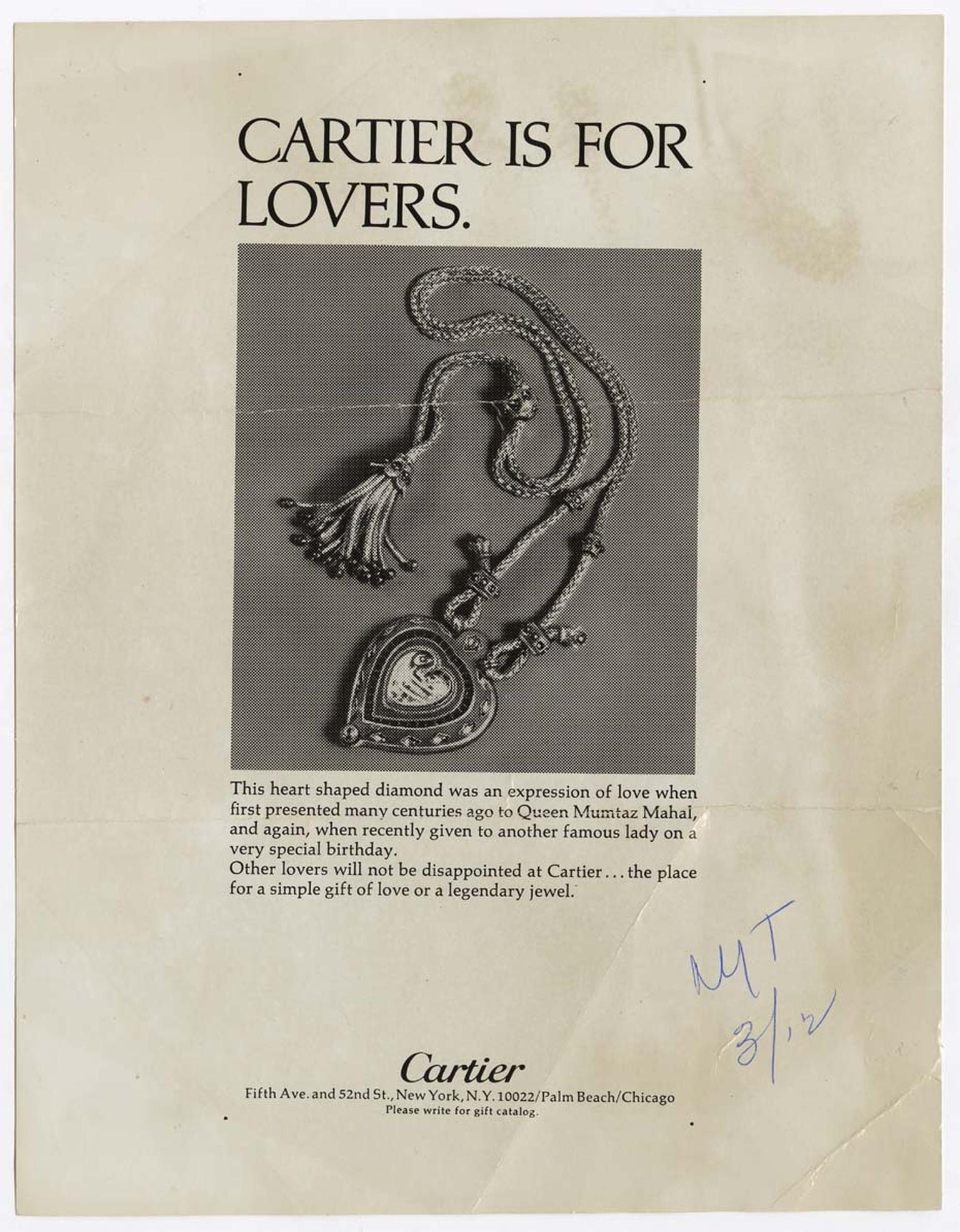 Cartier Took Out An Ad In The New York Times Featuring A Picture Of Taj