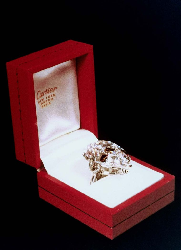 The Taylor-Burton diamond, which was acquired by Cartier at auction in 1969. Less than 48 hours later, Richard Burton had bought what was the twelfth largest diamond in the world at the time as a gift for Elizabeth Taylor.