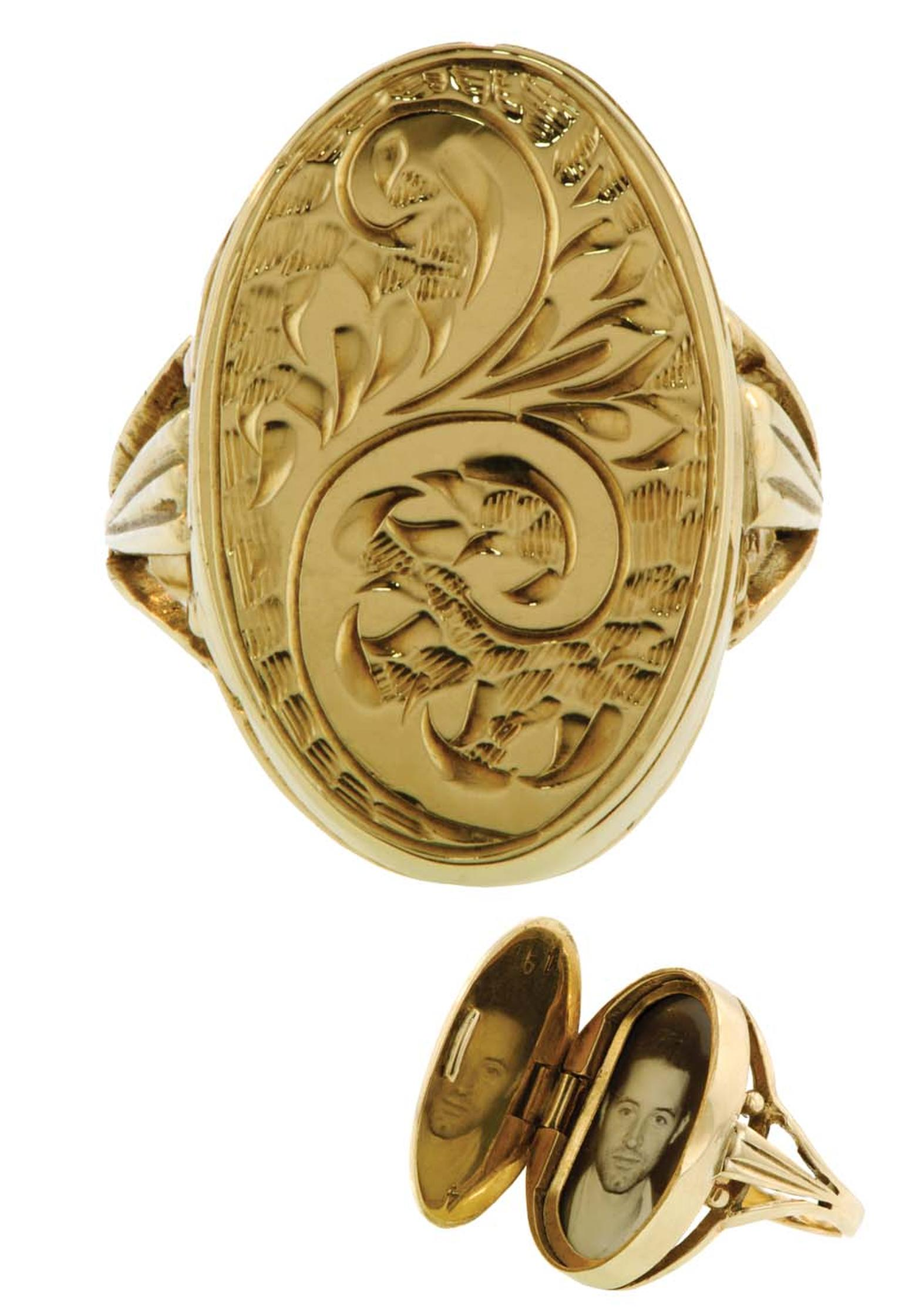 20th-century Locket ring from the private collection of Danielle Miele.