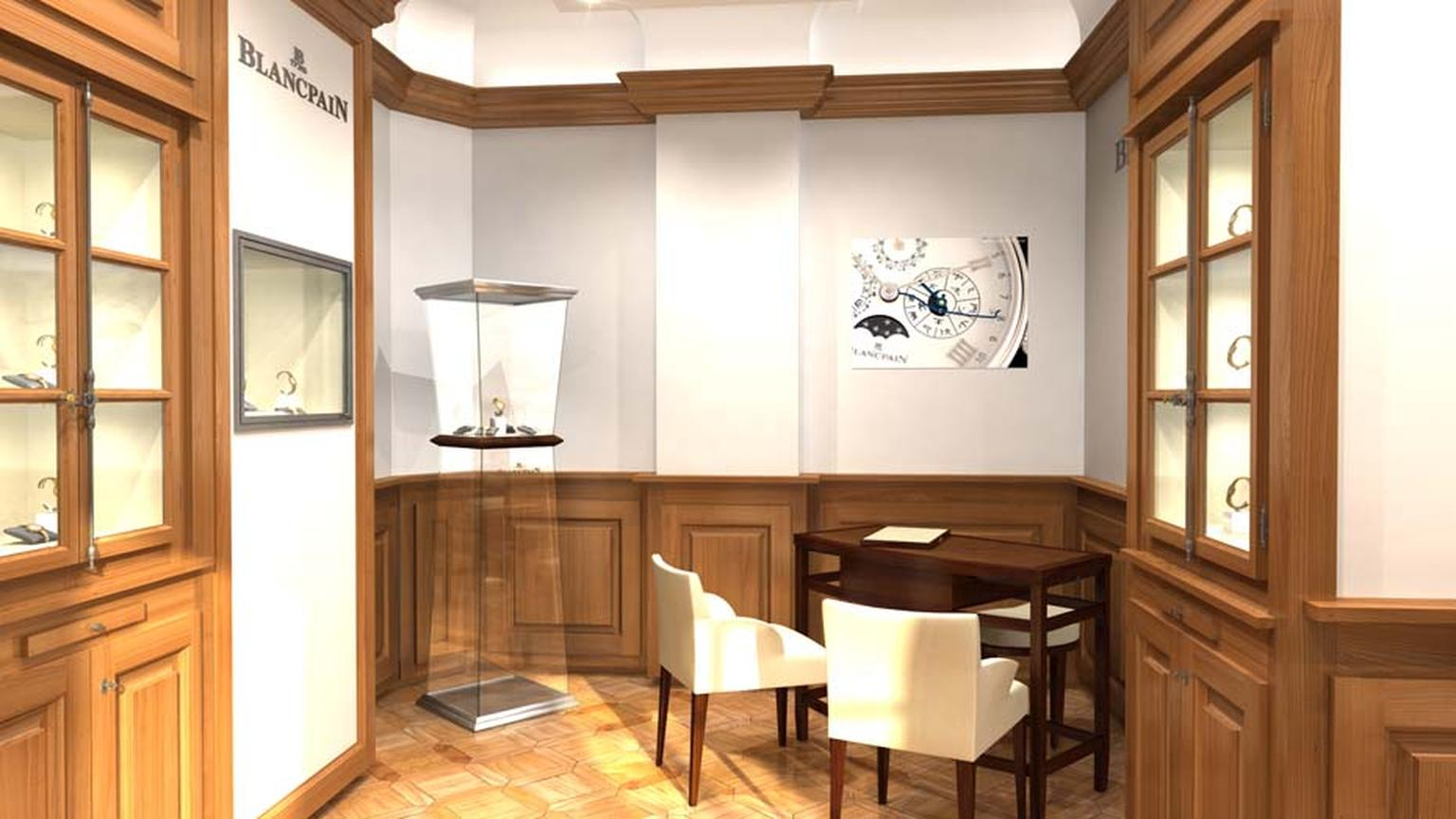 Blancpain has just opened two new boutiques in London: a flagship boutique at 11 New Bond Street (pictured) and a franchise in the Fine Watch Room of Harrods department store.