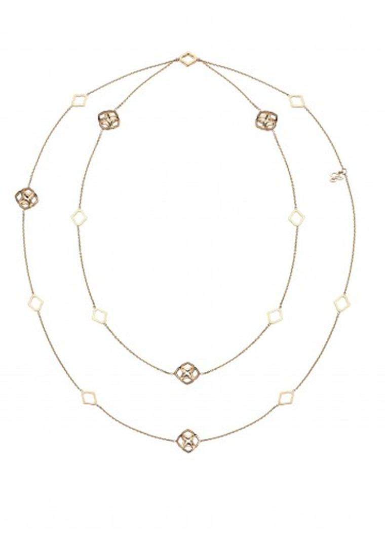 Chopard Imperiale Sautoir necklace in rose gold.