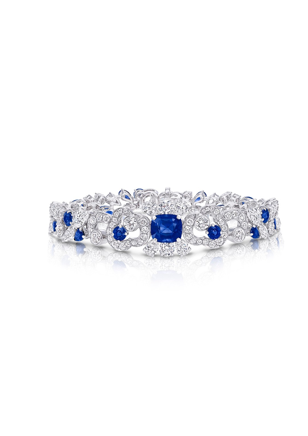 Graff Nuage collection sapphire and diamond bracelet.