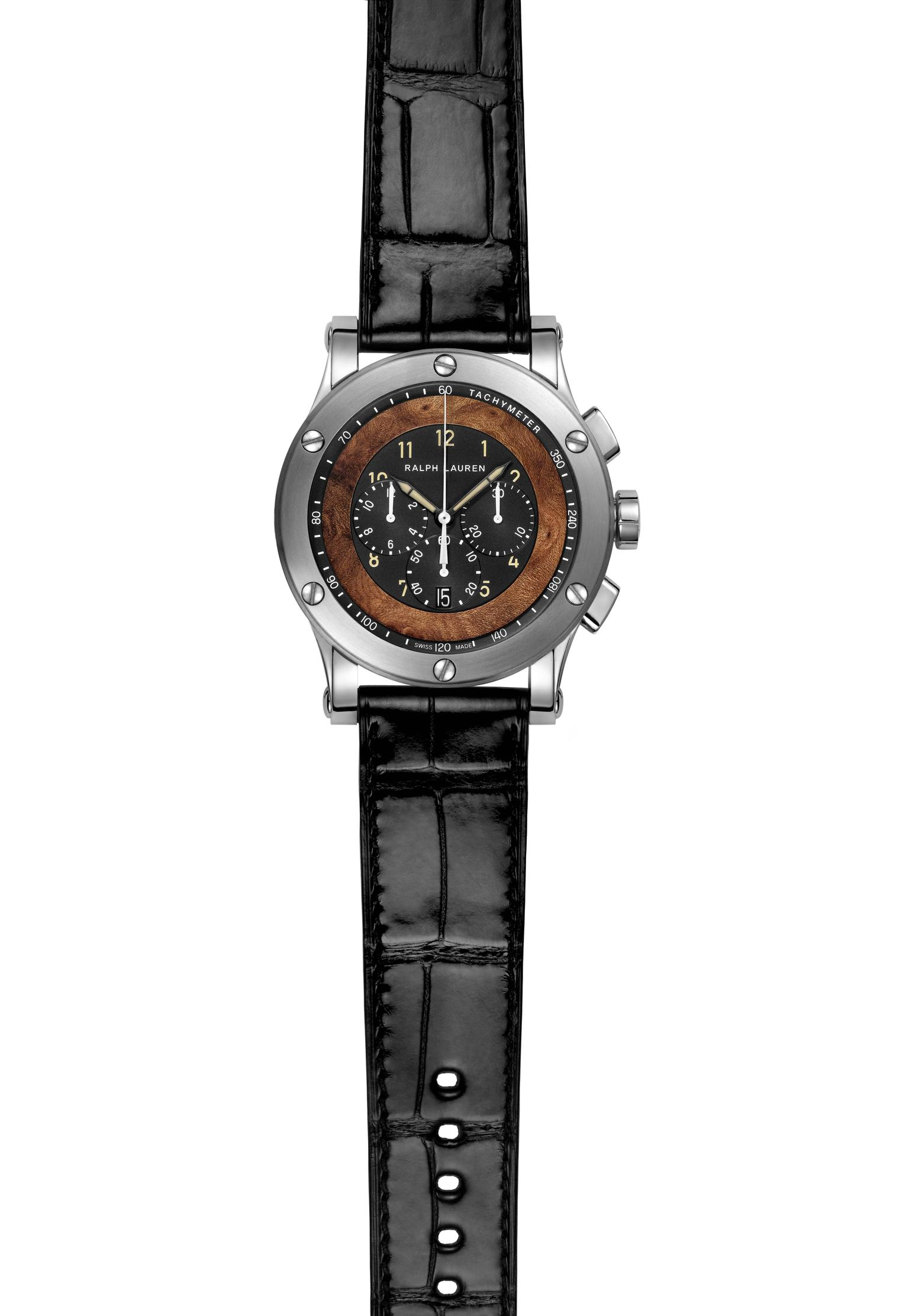 Ralph Lauren Automotive Chronograph watch with a Jaeger-LeCoultre manufacture chronograph movement