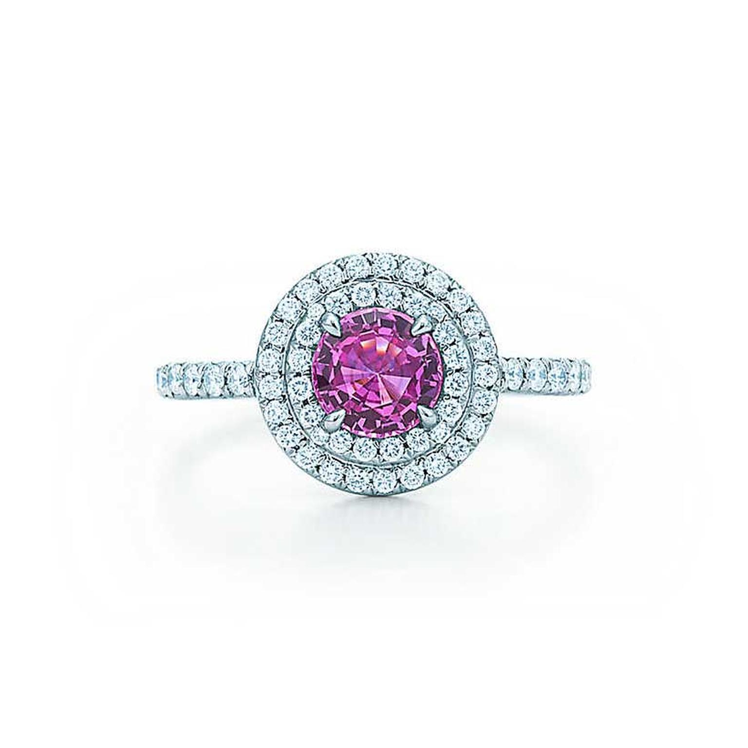 Tiffany & Co. pink sapphire and diamond Soleste ring (£5,950).
