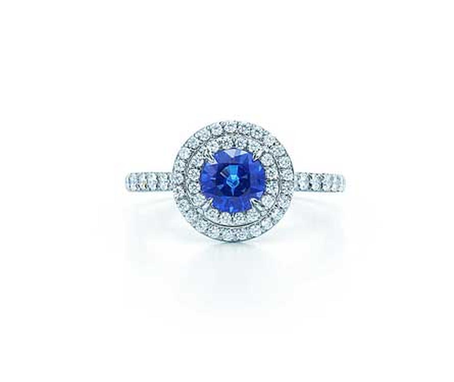 Tiffany & Co. blue sapphire and diamond Soleste ring (£6,350).