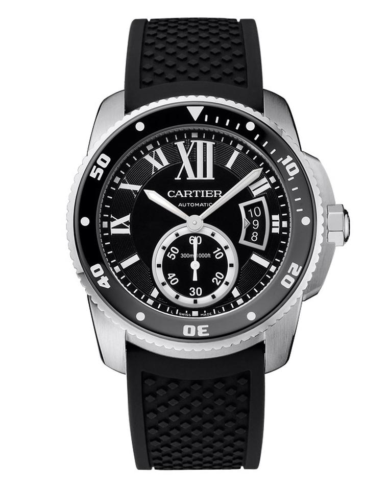 Having achieved the rigorous ISO 6425 dive watch certification, the Cartier Calibre Diver watch will accompany you in style to depths of up to 300m.