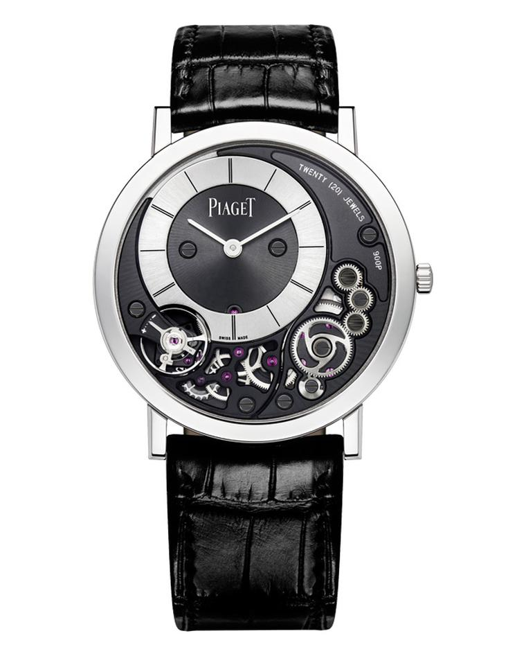Piaget's Altiplano 38mm 900P watch in white gold is the world's slimmest mechanical watch thanks to the ultra-thin movement housed in a case measuring just 3.65mm.
