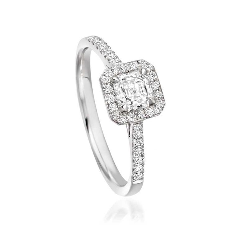 Astley Clarke Asscher cut diamond engagement ring (£4,500).