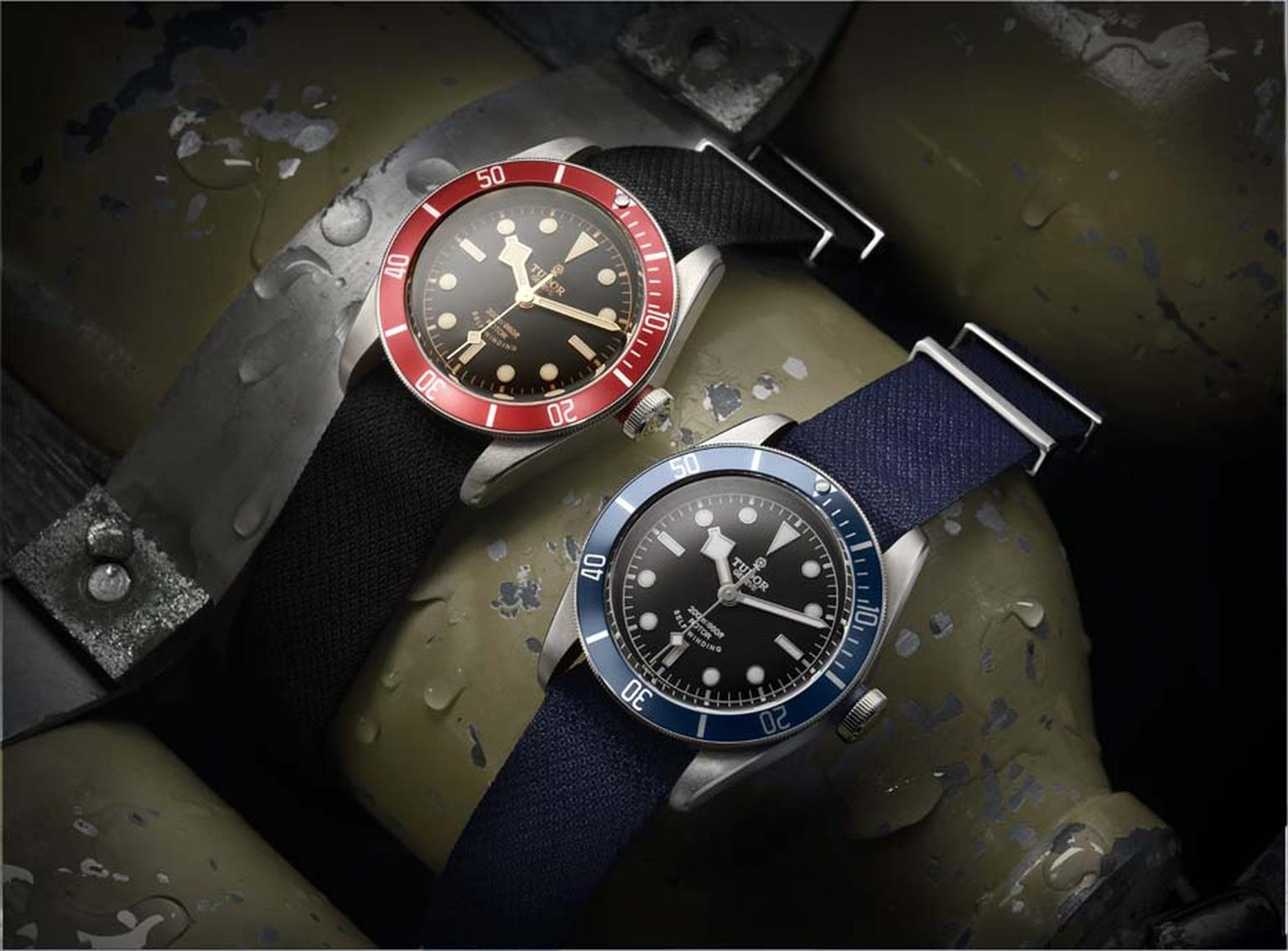 The new Tudor Heritage Black Bay dive watches are based on the design of a 1954 Submariner watch.