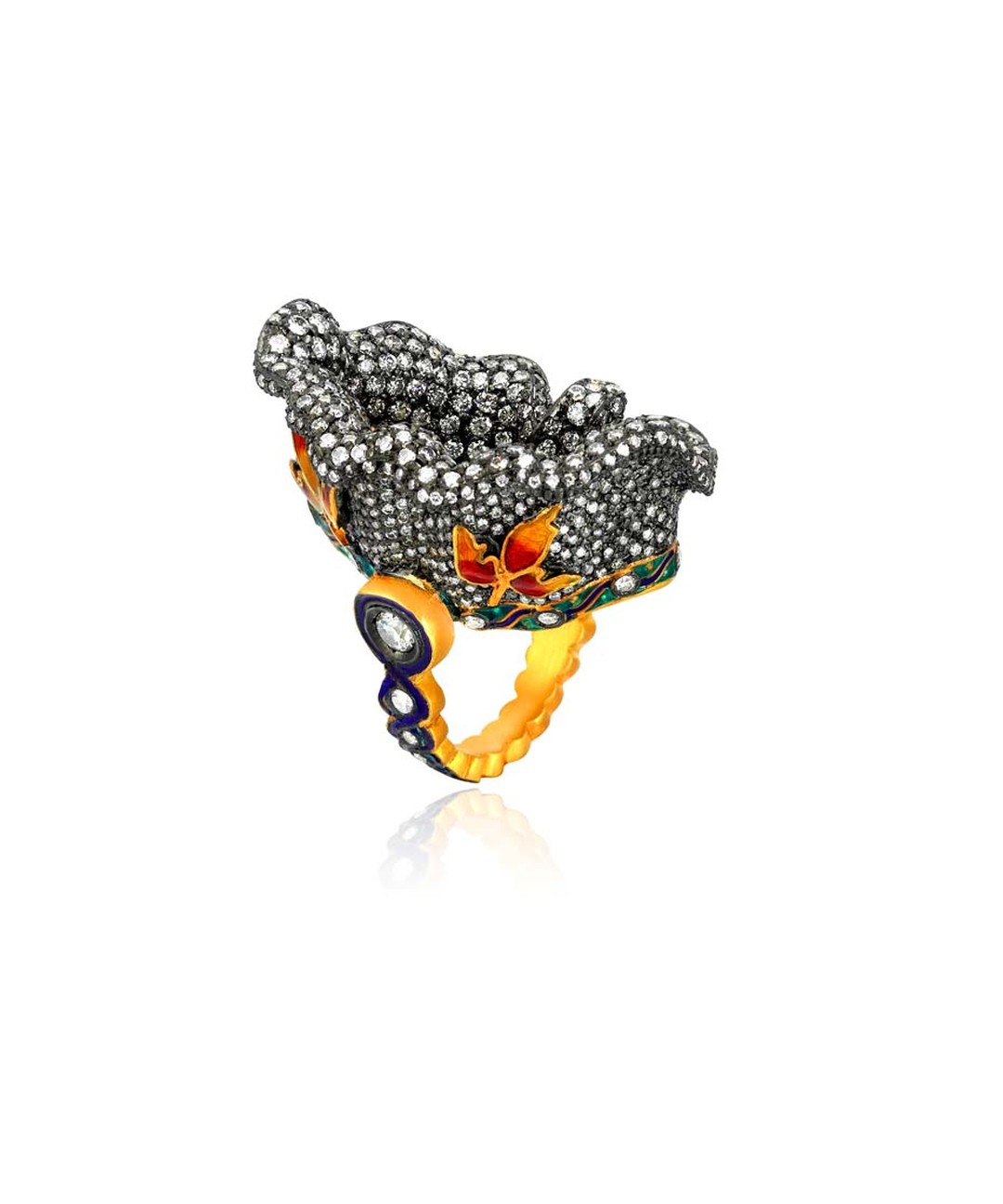 Pinar Oner Chora ring is inspired by the outstanding 14th century Byzantine mosaics of Istanbul's Chora church.